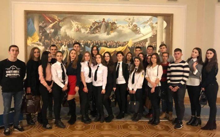 Студенти Юридичного факультету ДУІТ на екскурсії у Верховній Раді