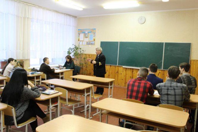 Профорієнтаційна бесіда у Броварській школі № 2  Київської області