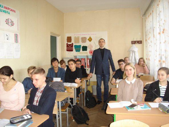 06.11.2018 року відбувся захід з профорієнтації у школі  №287  м.Києва
